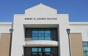 Shelby M. Jackson - Shelby M. Jackson Building at 2100 E. E. Wallace Boulevard North in Ferriday, Louisiana