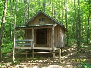 Pine Mountain State Scenic Trail - Birch Knob Shelter on the Pine Mountain State Scenic Trail