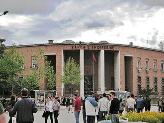 Bank of Albania - Building of the Bank of Albania, in Tirana's Skanderbeg Square.