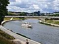 Ship in Neris river, Vilnius.jpg