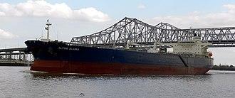 Lower Mississippi River - Oil tanker on the Lower Mississippi