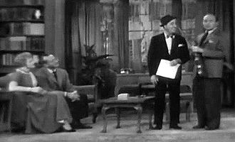 Jonathan and Darlene Edwards - Jack Benny tries to pitch his song. Pictured here are the Westons, Ed Wynn and Benny