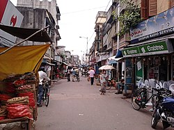 Sibpur road, popularly known as Shibpur bazar.