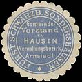 Siegelmarke Gemeinde-Vorstand zu Hausen Verwaltungsbezirk Arnstadt W0392529.jpg