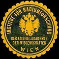 Siegelmarke Institut für Radiumforschung der kaiserl. Akademie der Wissenschaften Wien W0318234.jpg