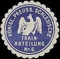 Siegelmarke K.Pr. Schlesische Train-Abteilung Nr. 6 W0379107.jpg