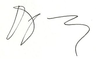 Douglas Kennedy (writer) - Image: Signature Douglas Kennedy