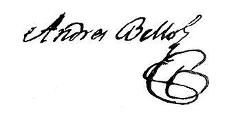 Andrés Bello - Image: Signature of Andrés Bello, 1804