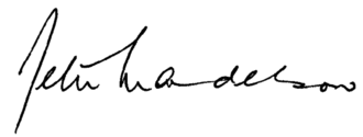 Peter Mandelson - Image: Signature of Peter Mandelson