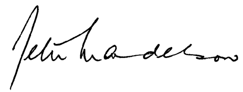 Peter Mandelson's signature