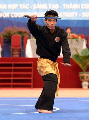 Silat - A Vietnamese pesilat armed with golok