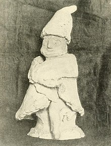 Early 20th Century Slavic Cult Statuette Of A Domovoy, The Household Deity,  Progenitor Of The Kin, In Slavic Paganism