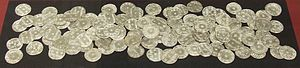 Silver pennies from the Vale of York hoard. Di...