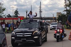 Simone Biles - Homecoming parade for Simone Biles in Spring, Texas on August 24, 2016