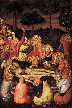 Seilern Triptych - Simone Martini, Entombment, c 1334