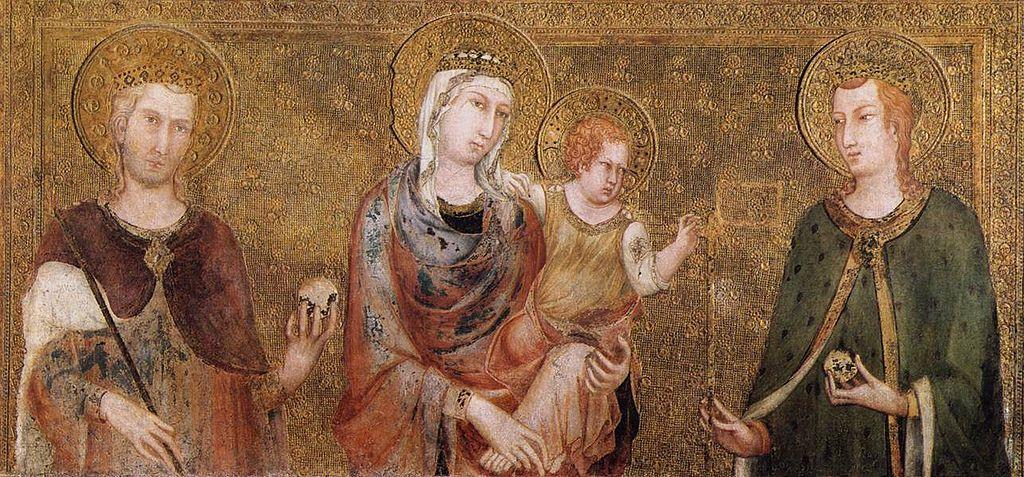 Simone Martini - Madonna and Child between St Stephen and St Ladislaus - WGA21399