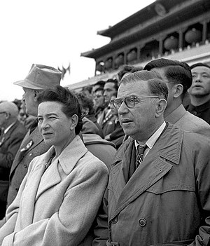 Jean-Paul Sartre - Simone de Beauvoir and Jean-Paul Sartre in Beijing,1955