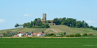 Kraichgau - Steinsberg Castle on the eponymous hill, the highest point of the Kraichgau