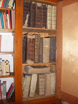Nederlands: Oude boeken in Klooster en kerk Si...