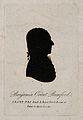 Sir Benjamin Thompson, Count von Rumford. Aquatint silhouett Wellcome V0005802.jpg