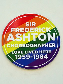 Photo of Frederick Ashton multicoloured plaque
