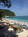 Sirolo beach in August, summer 2015.jpg