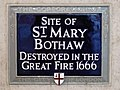 Site of St. Mary Bothaw destroyed in the Great Fire 1666.jpg