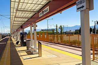 Salt Lake City International Airport - The Airport TRAX station