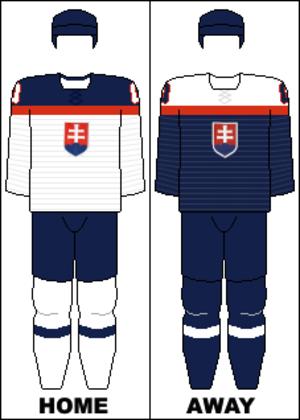 Slovakia men's national junior ice hockey team - Image: Slovakia national hockey team jerseys 2014 Winter Olympics