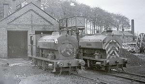 Kent Coalfield - Two of the Snowdown saint locomotives in 1968.