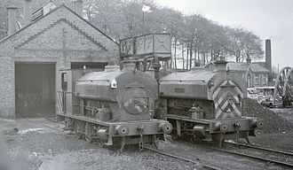 Kent Coalfield - Two of the Snowdown saint locomotives in 1968.