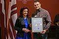 Solvita Āboltiņa tiekas ar Latvijas olimpisko komandu XXII Ziemas olimpiskajās spēlēs Sočos (12812165833).jpg