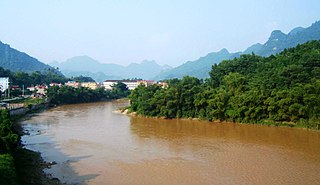 Lô River tributary of Red River in Vietnam