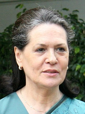 United Progressive Alliance - UPA chairperson Sonia Gandhi.