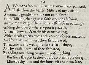 Sonnet 20 - Image: Sonnet 20 1609