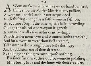 Sonnet 20 poem by William Shakespeare