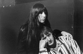 Sonny & Cher during a rehearsal break at ABC T...