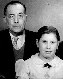 Antonio Soto con su hija Isabel.