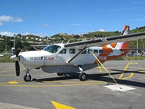 Sounds Air - A Sounds Air Cessna Caravan at Wellington International Airport in 2009