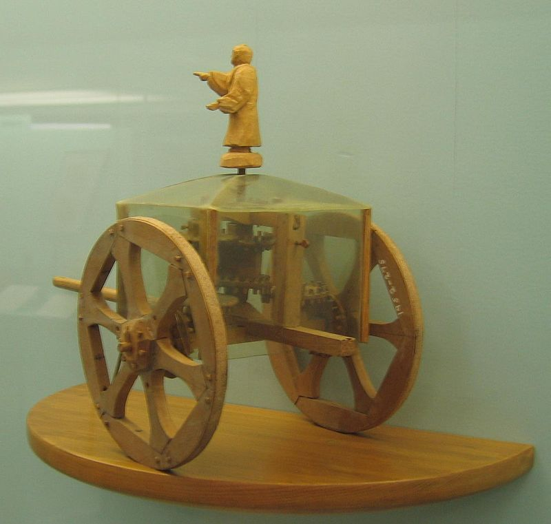 South-pointing chariot (Science Museum model).jpg