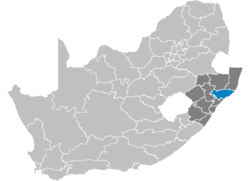 Ligging King Cetshwayo District Municipality