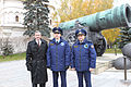 Soyuz TMA-22 crew in front of the Tsar Cannon at the Kremlin.jpg