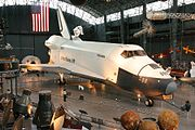 Space Shuttle Enterprise on display at the Udvar-Hazy Center.