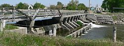 The dam on the Cedar River at Spalding is listed in the National Register of Historic Places.[1]