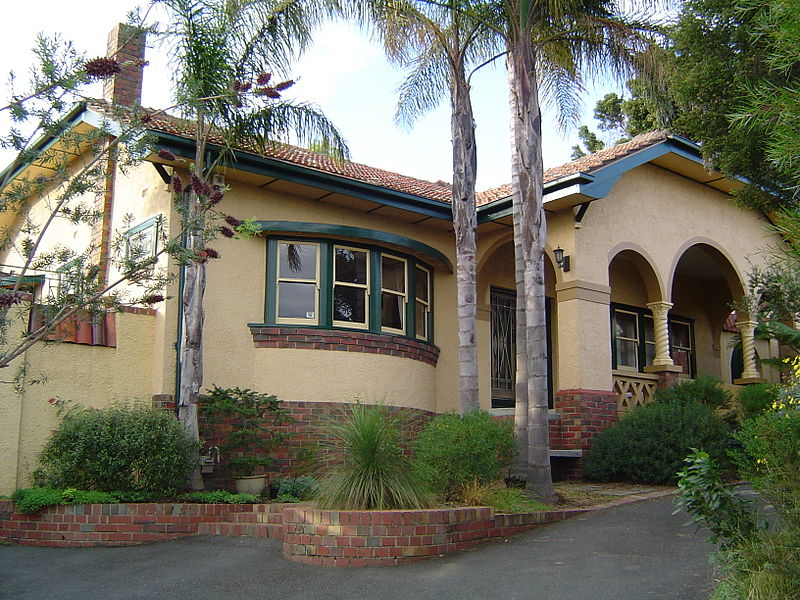 File Spanish Mission Style House In Heidelberg Victoria
