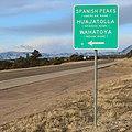Spanish Peaks road sign.JPG