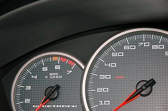 Tachometer - Left figure shows a tachometer that can show up to 7000 RPM