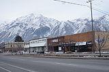 Springville Utah Main Street with mountain background.JPG