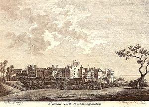 Stradling baronets - St Donat's Castle in 1775, the seat of the Stradling family