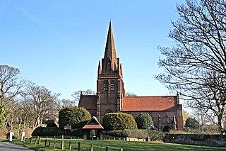 Thurstaston Village in England